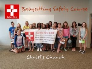 photo of smiling children who graduated from babysitting safety class