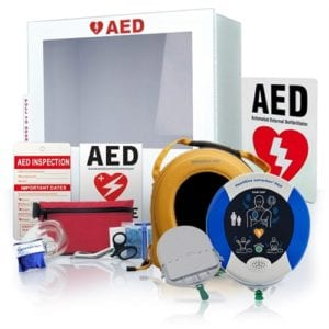 photo of Automated Defibrillator and related equipment