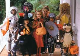 photo of kids dressed up for Halloween