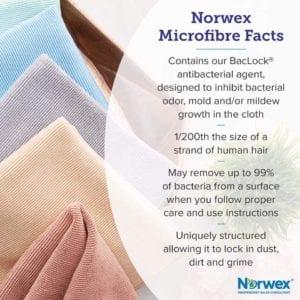photos and descriptions of Norwex Microfiber towels